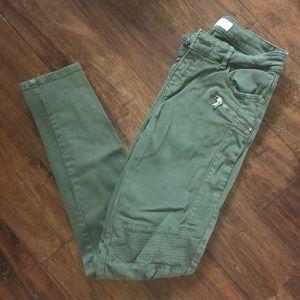 Zara Army Green Jeggings